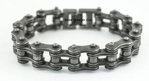stainless steel chain bracelet images 3 4 inches wide industrial look stainless steel bike chain jpg