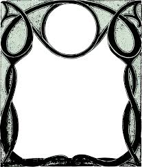 cool frame clipart cool curly frame