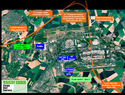 Cdg Airport Map Roissy Carex Cargo Rail Express