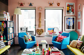 home tour bright color and paint ideas nyc apartment