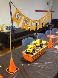 Construction Themed Centerpieces by Digger U0027 Construction Party Theme Table Centerpiece Featuring