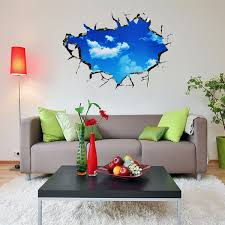 pag blue sky 3d wall decals sticker ceiling hole sticker home c54d825b d436 48c3 8377 174858577ea8