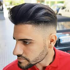 undercut fade hairstyle with long bangs fade haircut