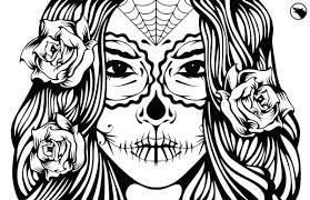 printable coloring pages sugar skulls sugar skull coloring coloring pages of sugar skulls and gang