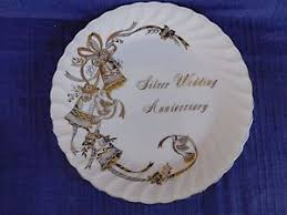 25th wedding anniversary plates lefton 25th silver wedding anniversary plate gift quality ebay