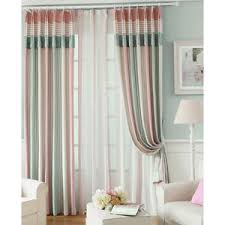 Pink Pleated Curtains Pink Gingham Floral Print Polyester Beautiful Kids Curtains