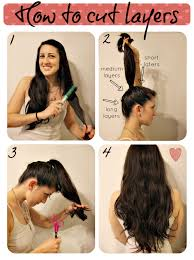 cutting hair upside down how to cut layers diary of a mad crafter