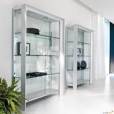 Dining Room Display Cabinet Miami Display Cabinet With Satin Anodized Aluminium Profile