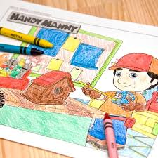 handy manny coloring disney family