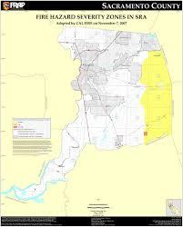 County Map Of California Cal Fire Sacramento County Fhsz Map