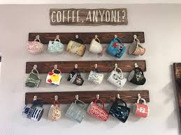 coffee mug rack hanging coffee mugs on the walls home