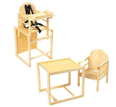wooden high chair turns into table design ideas