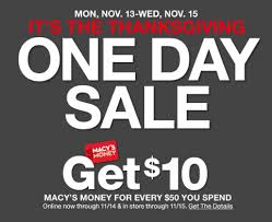 macy s thanksgiving one day sale