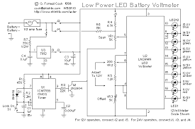 low power led volt meter circuitsarchive