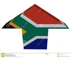 Afican Flag South African Flag Up Arrow Stock Illustration Illustration Of