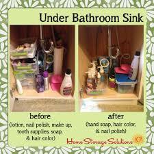 Under Bathroom Sink Storage Ideas Colors How To Declutter Under Bathroom Sink Cabinets