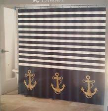 Nautical Striped Curtains Striped Nautical Shower Curtains Ebay