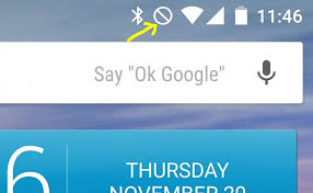 android symbol meanings how do i get rid of the circle icon with line through it at the