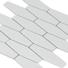 white hexagon white body ceramic tile 1in x 6in 100301712