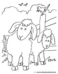 free lambs coloring create a printout or activity