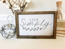 live simply wood sign live simply rustic wood sign wood