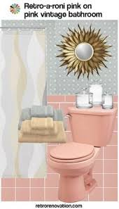 more pink bathrooms with black accents pink tile bathroom