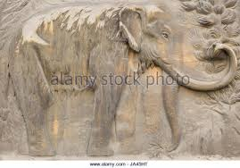 artwork woolly mammoth mammuthus primigenius stock photos