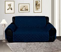 Amazoncom Navy Blue Quilted Micro Suede Pet Dog Furniture Sofa - Sofa cover designs