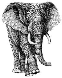 Elephant Wall Sconce Elephant Walking Wall Sticker Decal Black And White Animal Art By
