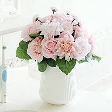 artificial flowers for home decoration amazon com bringsine bridal wedding bouquet flower arrangement