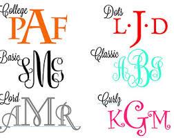monogram initials wall monogram sticker vinyl decal personalized monogrammed initials