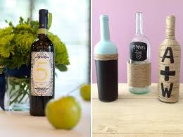 how to decorate a wine bottle for a gift diy wedding wine bottle decor the celebration society