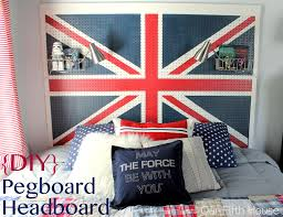 British Flag Pillow Diy Union Jack Pegboard Headboard Our Fifth House