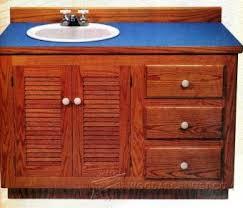 Bathroom Cabinet Plans Bathroom Vanity Plans Woodarchivist