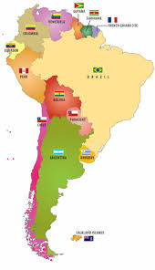south america map with country names and capitals top 25 best america map ideas on new america map