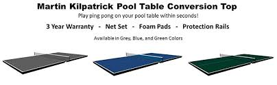 martin kilpatrick table tennis conversion top amazon com martin kilpatrick conversion table tennis top for pool