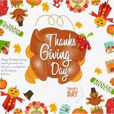 el día de acción de gracias tarjeta decoracion frontera el día de