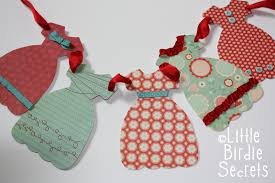 french dresses paper garland little birdie secrets