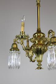 converted gas electric decorative sheffield style chandelier