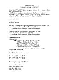 walsh u0027s juice company case study