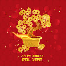 new year gold coins new year with gold coin vector free vector