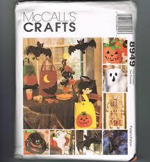 uncut sewing pattern halloween craft pattern autumn fall crafts