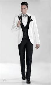 folobe custom made white and black men suit fashion designer