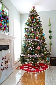 Decorated Christmas Tree Blue by Christmas Tree Decorating Ideas The Home Depot