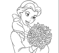 princess belle coloring page funycoloring
