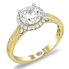 bjs wedding rings yellow gold halo ring demarco bridal jewelry official
