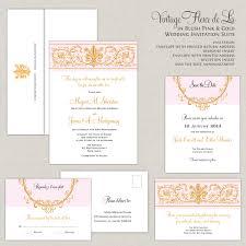 Royal Wedding Invitation Card Fleur De Lis Wedding Invitations Blush And Gold Wedding