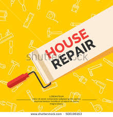 Home Renovation Hand Tools Home Renovation Construction Vintage Stock Vector
