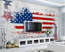 aliexpress com buy beibehang 3d wallpaper retro american flag
