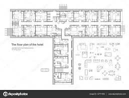 hotel architektur hotel möbel symbolsatz in architektur pläne hotel planung icon